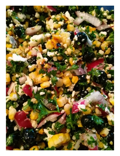Corn & Blueberry Salad with Feta from My Kitchen Wand