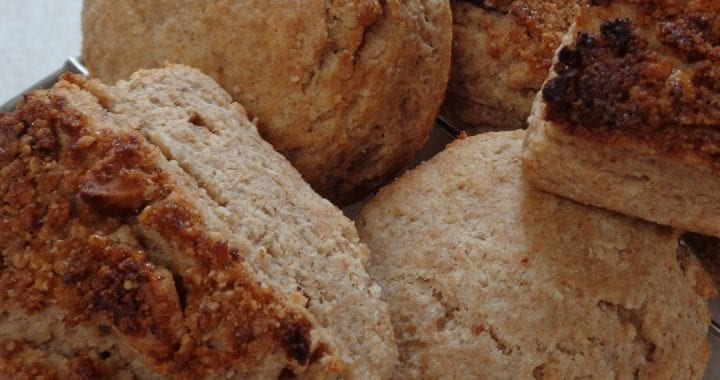 Spelt & Almond Flour Buttermilk Biscuits from My Kitchen Wand