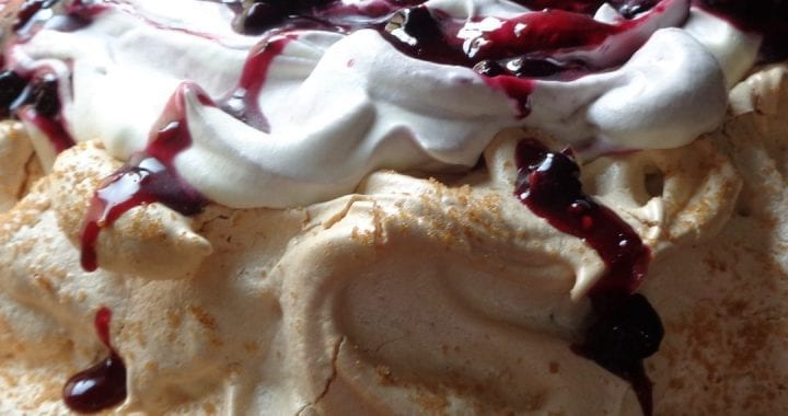 Black Currant Pavlova from My Kitchen Wand
