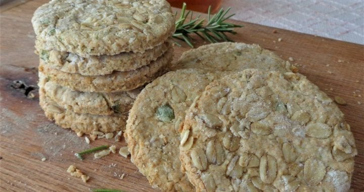 Oatcakes with Rosemary and Spruce Honey from My Kitchen Wand