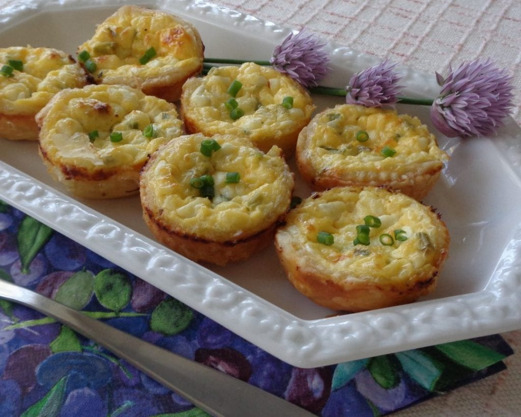 Cottage Cheese & Chive Tarts/Quiche from My Kitchen Wand