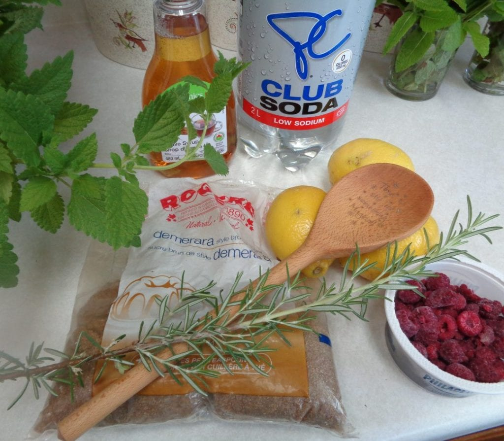 Lemon Balm Rosemary Raspberry Lemonade from My Kitchen Wand