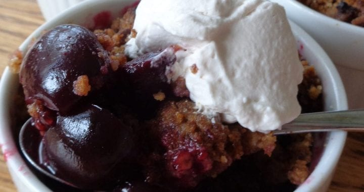 Cherry Ginger Crumbles from My Kitchen Wand