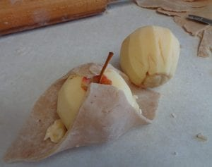 Apple Dumplings with ACV Caramel Sauce