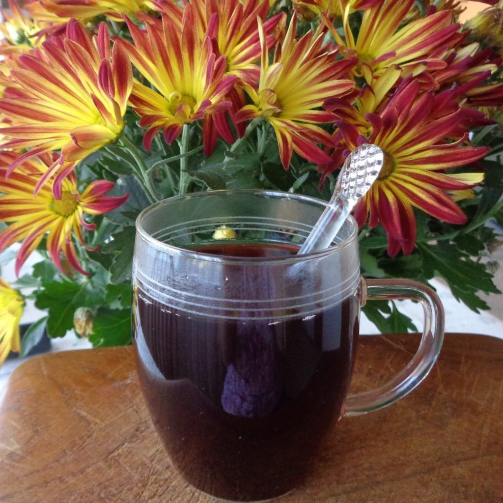 Apple, Elderberry Tea from My Kitchen Wand