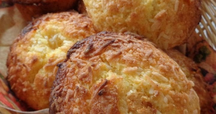 Coconut Orange White Chocolate Muffins from My Kitchen Wand