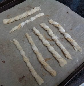 Puff Pastry Sticks with Fine Herbs & Aged Gouda from My Kitchen Wand