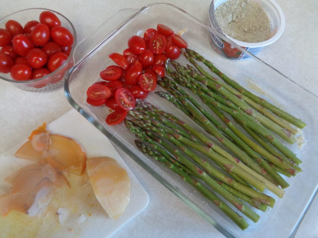 Roasted Asparagus and Tomato with Balsamic Vinegar from My Kitchen Wand