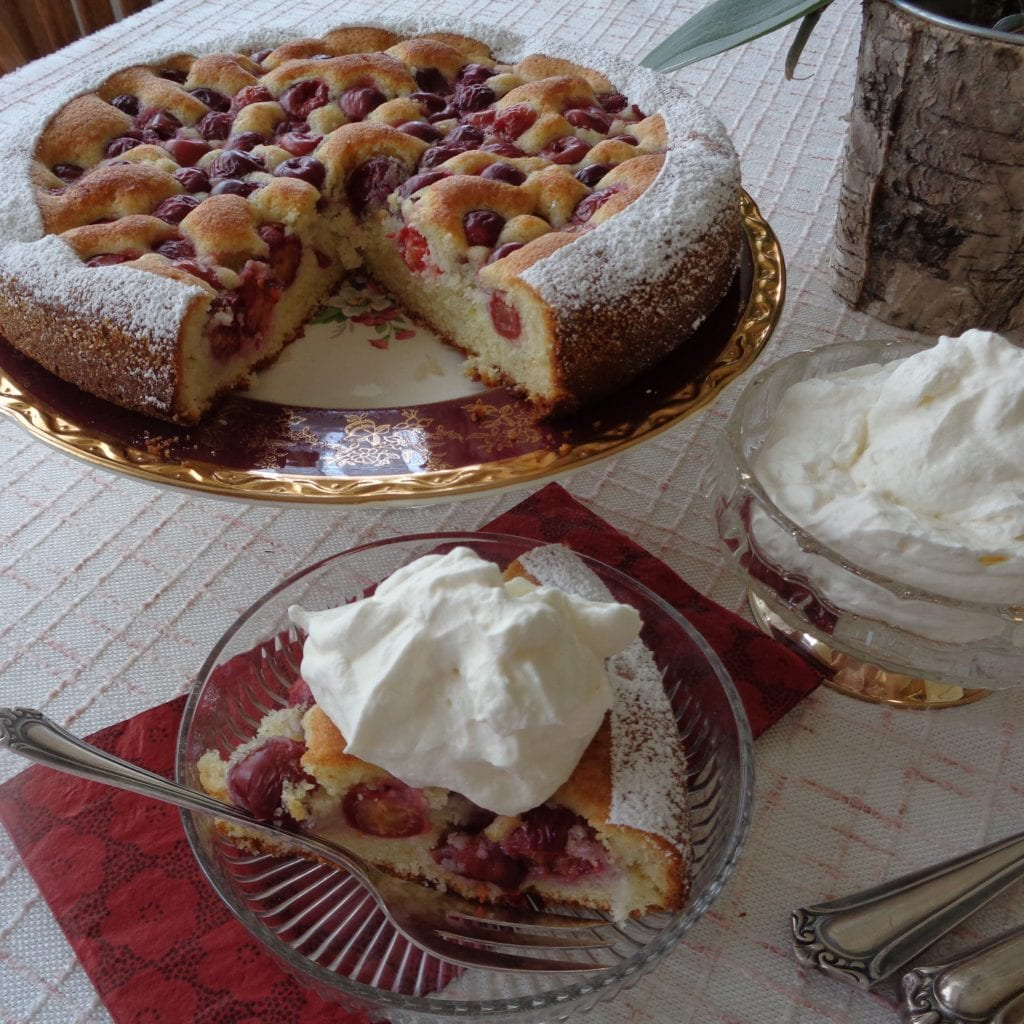 Sour Cherry cake from My Kitchen Wand