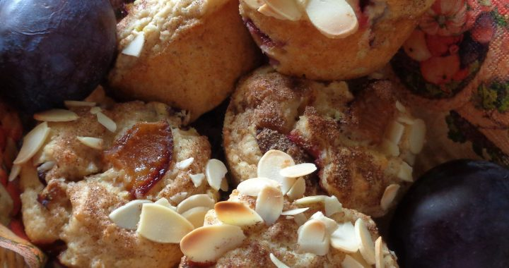Plum & Cinnamon Muffins from My Kitchen Wand
