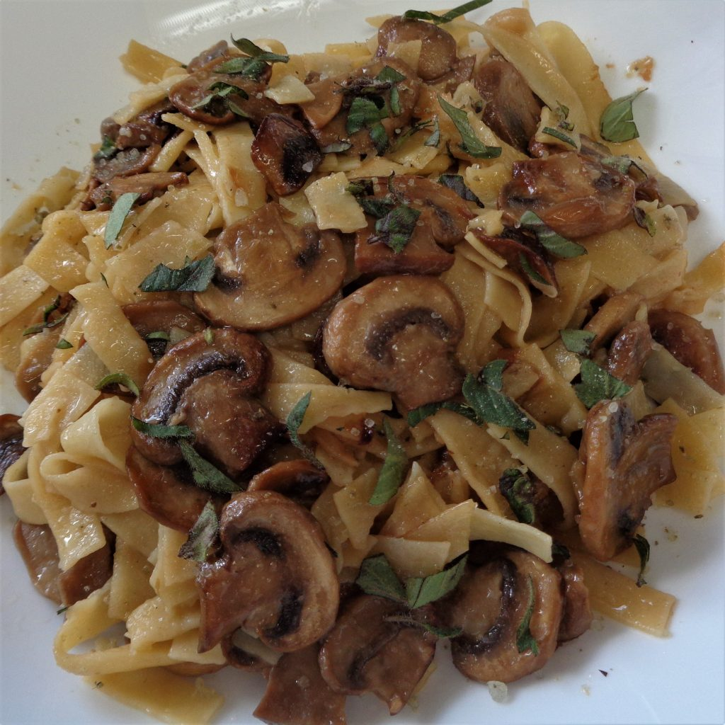Mushroom Linguini from My Kitchen Wand