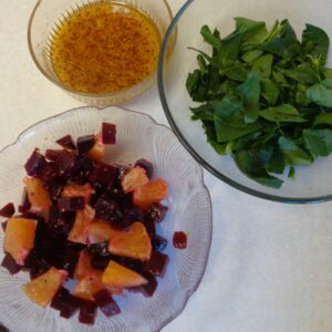 Beet Salad with Orange Vinaigrette from My Kitchen Wand