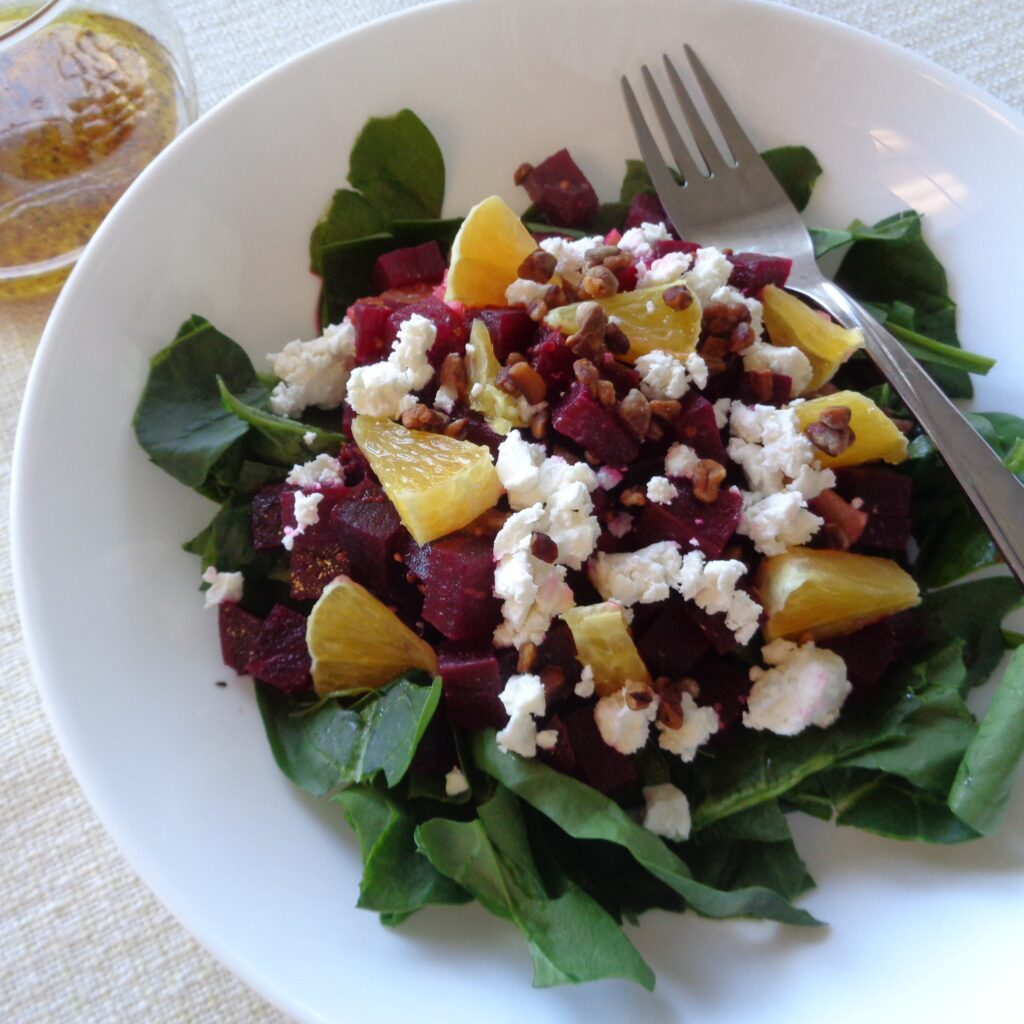 Beet Salad with Orange Vinaigrette from My Kitchen Wand