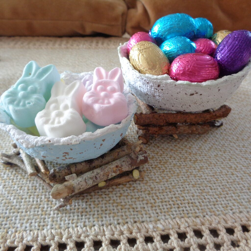 Spring Paper Egg Baskets from My Kitchen Wand