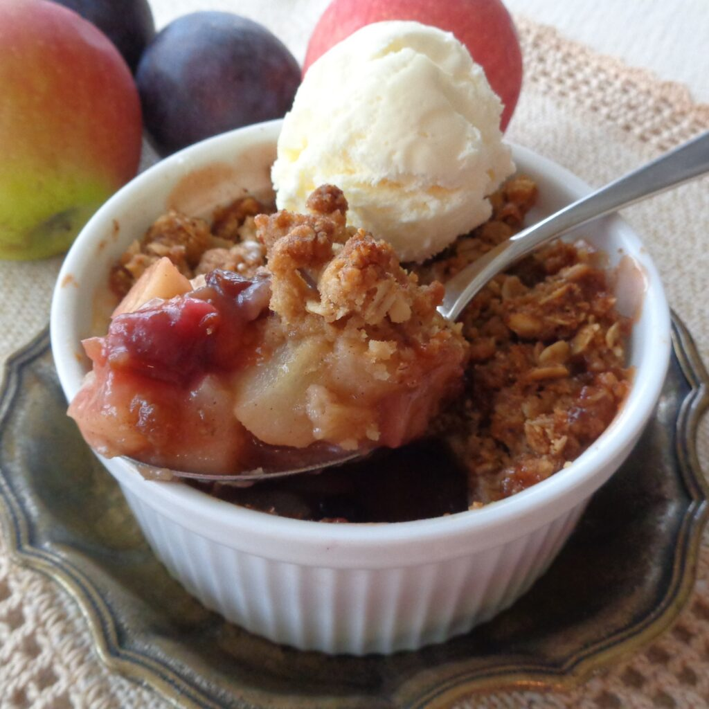 Fall Fruit Crumble with Oat and Hazelnut Streusel from My Kitchen Wand