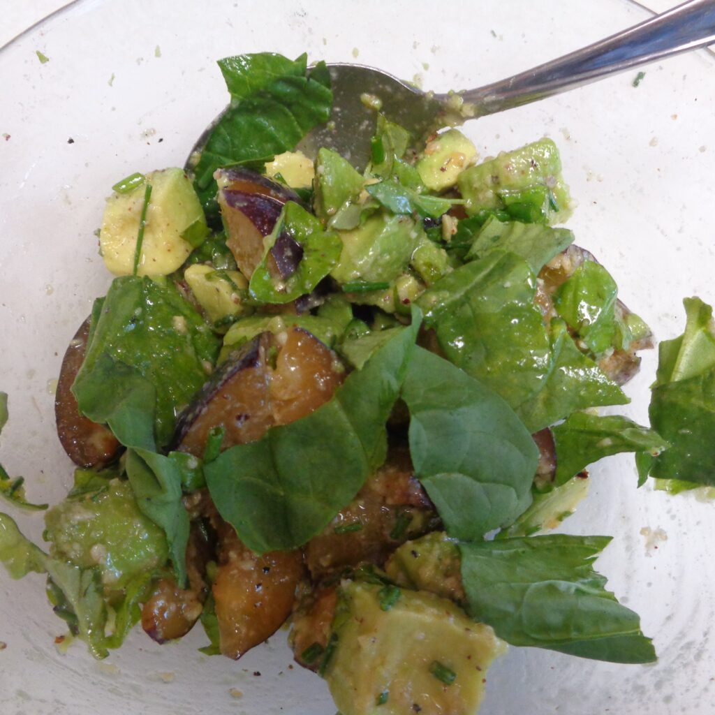 Plum & Avocado Salad from My Kitchen Wand
